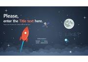 우주 LIKE - 우주, 우주선, 별 PPT 테마 디자인