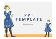 PPT템플릿 소녀인형캐릭터