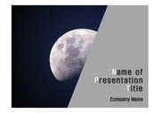 PPT양식 템플릿 배경 - 우주, 달1
