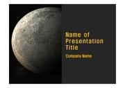 과학 테마 PPT - 우주, 달3
