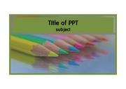 색연필 파스텔 미술 템플릿