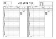 서식 최신양식 신생아 성장관찰 기록부