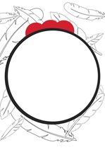 붉은 닭이 그려진 디자인 표지, 포스터, 엽서, 피피티 표지 양식으로 활용 가능