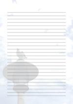 줄노트 편지지, 노트, 연습장, 레포트 속지, 속지 v201808132