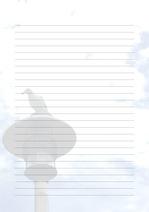 줄노트 편지지, 노트, 연습장, 레포트 속지, 속지 v201808134