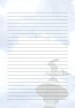 줄노트 편지지, 노트, 연습장, 레포트 속지, 속지 v201808136
