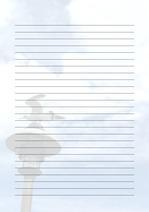 줄노트 편지지, 노트, 연습장, 레포트 속지, 속지 v201808137