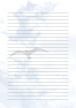 줄노트 편지지, 노트, 연습장, 레포트 속지, 속지 v2018081310