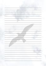 줄노트 편지지, 노트, 연습장, 레포트 속지, 속지 v2018081314