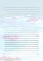 줄노트 편지지, 노트, 연습장, 레포트 속지, 속지 v2018081320