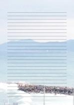 줄노트 편지지, 노트, 연습장, 레포트 속지, 속지 v2018081323