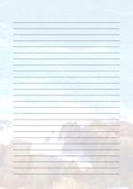 줄노트 편지지, 노트, 연습장, 레포트 속지, 속지 v2018081326