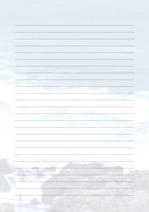 줄노트 편지지, 노트, 연습장, 레포트 속지, 속지 v2018081329