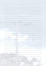 줄노트 편지지, 노트, 연습장, 레포트 속지, 속지 v2018081330