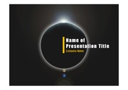 PPT양식 템플릿 배경 - 우주, 월식5