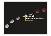 PPT양식 템플릿 배경 - 우주, 달3
