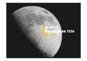 PPT양식 템플릿 배경 - 우주, 달2