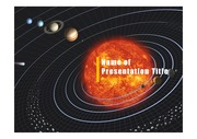 PPT양식 템플릿 배경 - 우주, 태양계