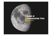 PPT양식 템플릿 배경 - 우주, 달4