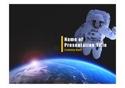 PPT양식 템플릿 배경 - 우주, 우주비행사1