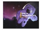 PPT양식 템플릿 배경 - 우주, 우주비행사2