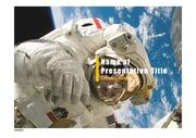PPT양식 템플릿 배경 - 우주, 우주비행사3