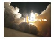 PPT양식 템플릿 배경 - 우주, 로켓발사2