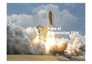 PPT양식 템플릿 배경 - 우주, 로켓발사1