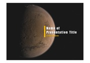 PPT양식 템플릿 배경 - 우주, 화성1