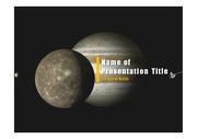 PPT양식 템플릿 배경 - 우주, 목성