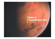 PPT양식 템플릿 배경 - 우주, 화성2