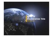 PPT양식 템플릿 배경 - 우주, 지구2
