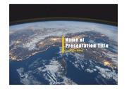 PPT양식 템플릿 배경 - 우주, 지구1