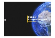 PPT양식 템플릿 배경 - 우주, 지구3