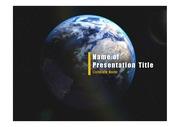 PPT양식 템플릿 배경 - 우주, 지구6