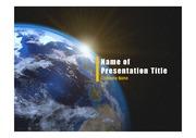 PPT양식 템플릿 배경 - 우주, 지구5