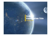 PPT양식 템플릿 배경 - 우주, 지구4