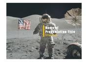 PPT양식 템플릿 배경 - 우주, 달착륙1