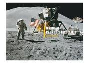 PPT양식 템플릿 배경 - 우주, 달착륙2