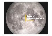 PPT양식 템플릿 배경 - 우주, 달