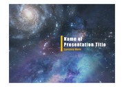 PPT양식 템플릿 배경 - 우주, 성운2