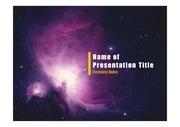 PPT양식 템플릿 배경 - 우주, 성운1