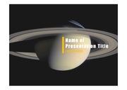 PPT양식 템플릿 배경 - 우주, 토성