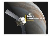 PPT양식 템플릿 배경 - 우주, 인공위성
