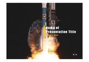 PPT양식 템플릿 배경 - 로켓발사3