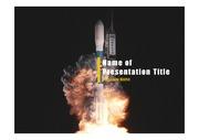 PPT양식 템플릿 배경 - 로켓발사1