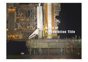 PPT양식 템플릿 배경 - 로켓발사4