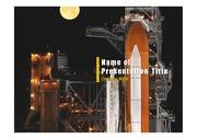 PPT양식 템플릿 배경 - 로켓발사5