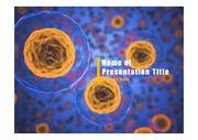 PPT양식 템플릿 배경 - 바이러스, 감염2