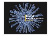 PPT양식 템플릿 배경 - 바이러스, 감염3